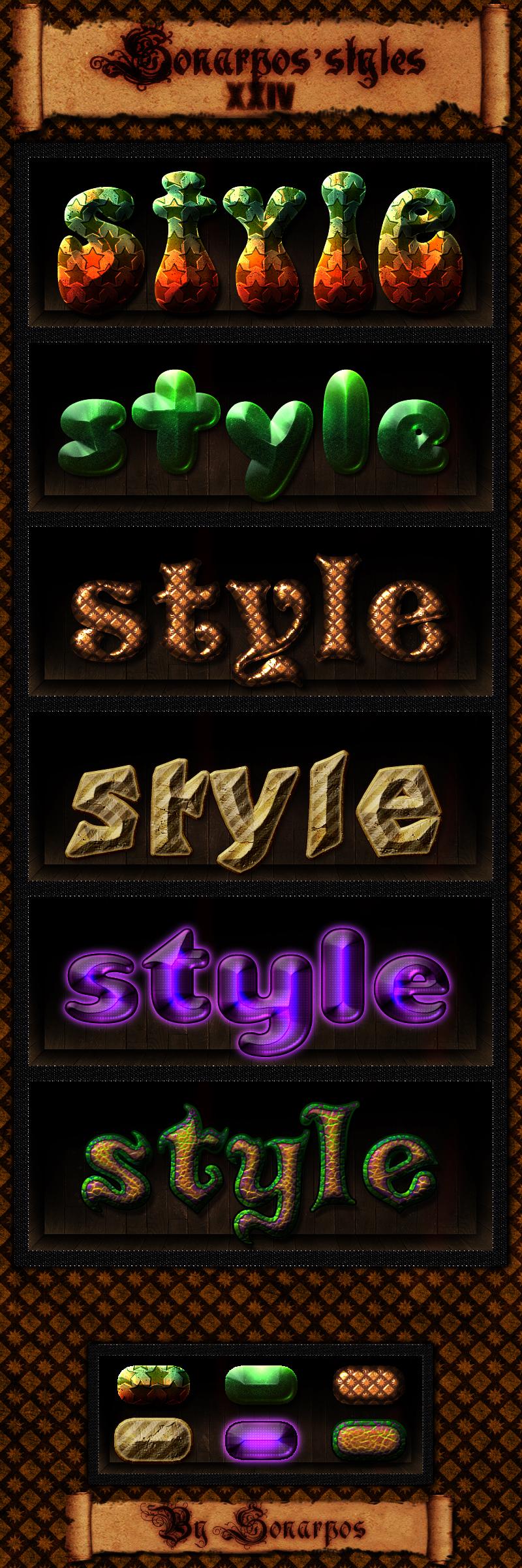Веб стили для фотошопа