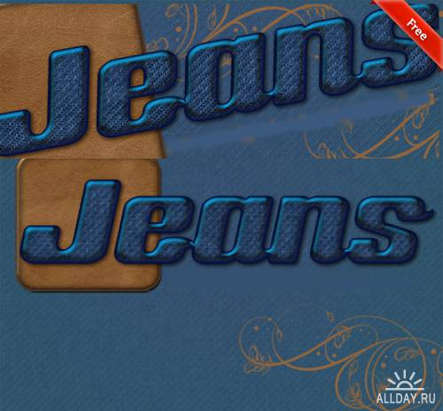 Amazing Jeans Text Styles for Photoshop