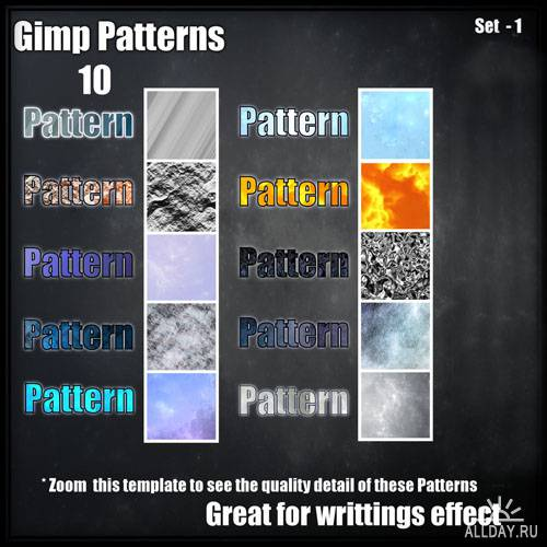 10 GIMP Patterns Set