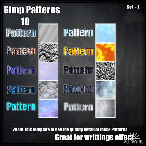 10 GIMP Patterns Set