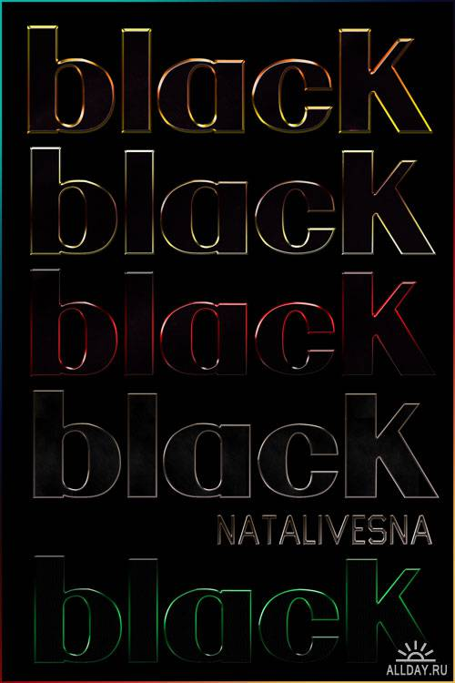 Черные стили / Black styles