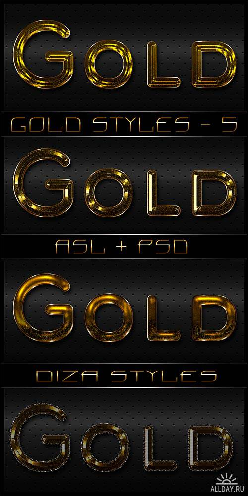 Gold styles - 5