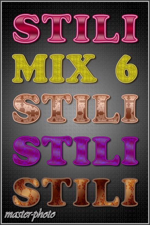 Стили для фотошопа – MIX 6