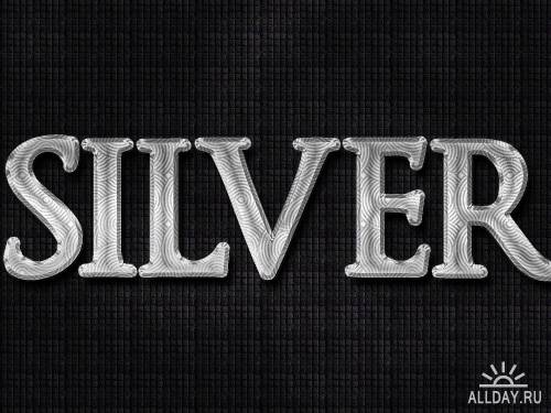 Metal Silver Photoshop Layer Styles