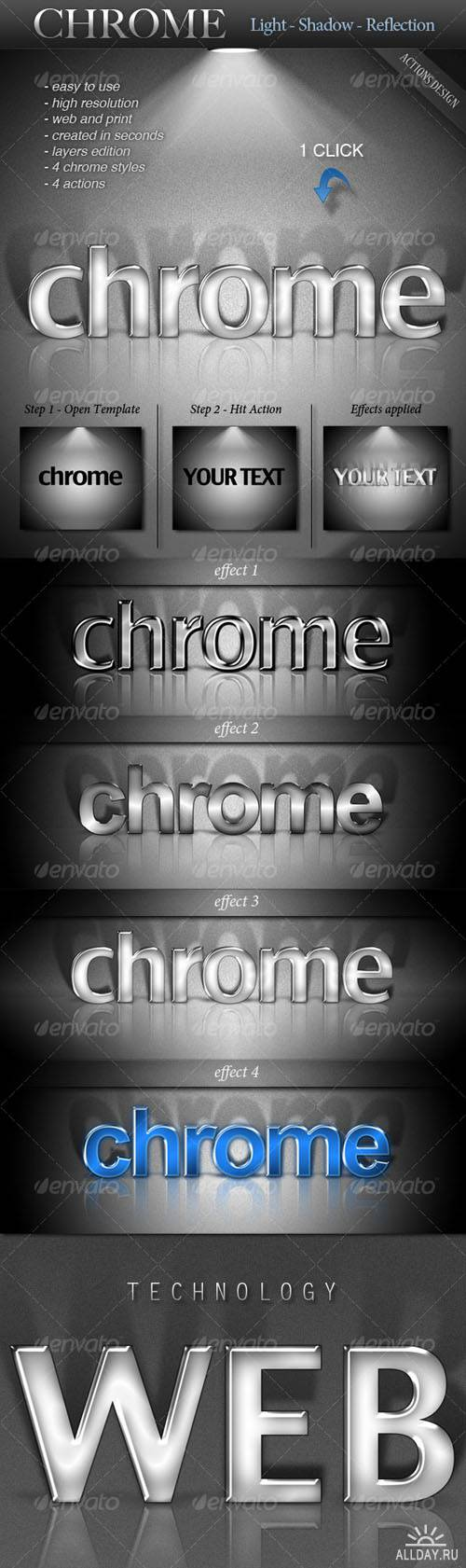 GraphicRiver - CHROME - Light - Shadow - Reflection