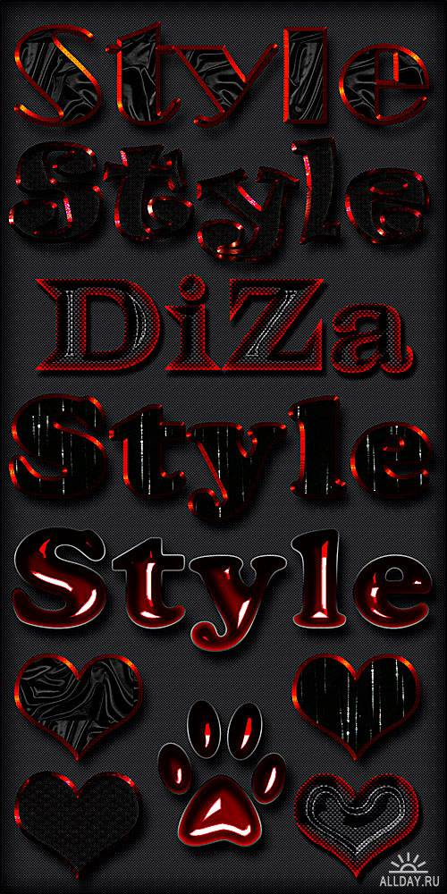 Black & red styles