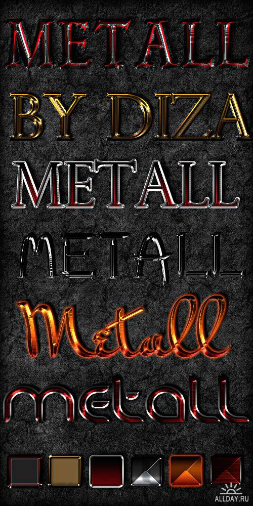 Color metall styles