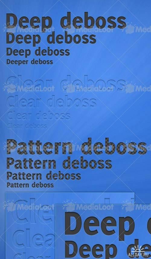 Elegant Deboss Text Styles