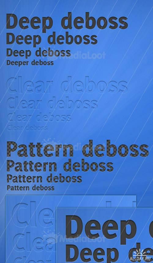 Elegant Debossed Photoshop Text Styles
