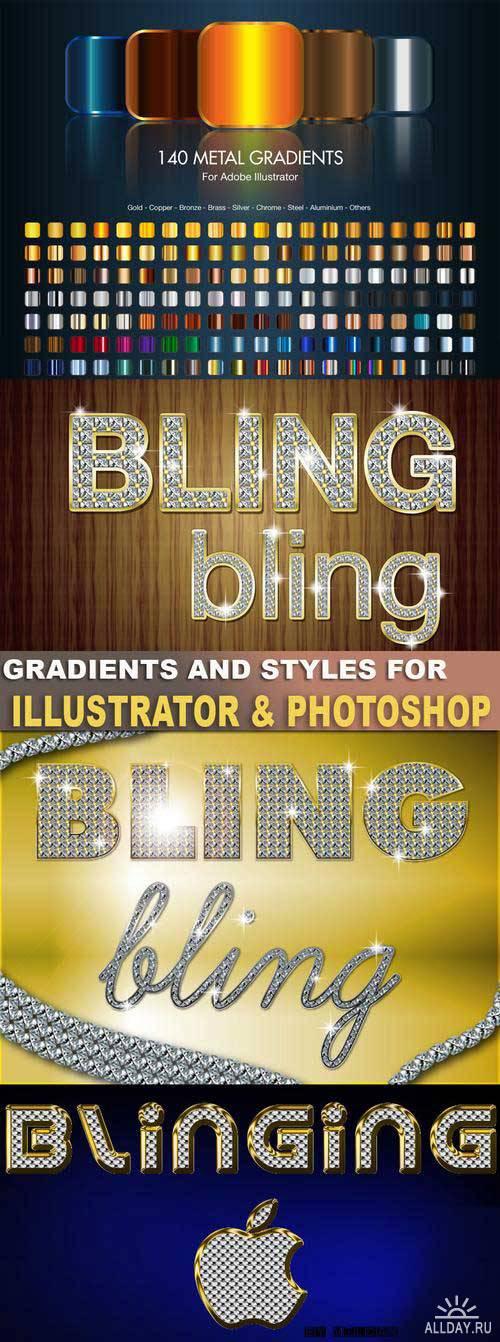 Стили и градиенты для Adobe Illustrator и Adobe photoshop