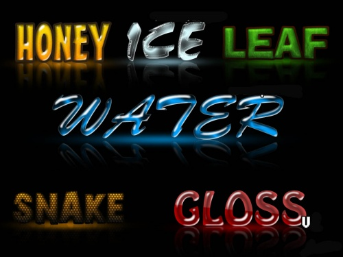 Collection of Text Style for Photoshop pack # 1