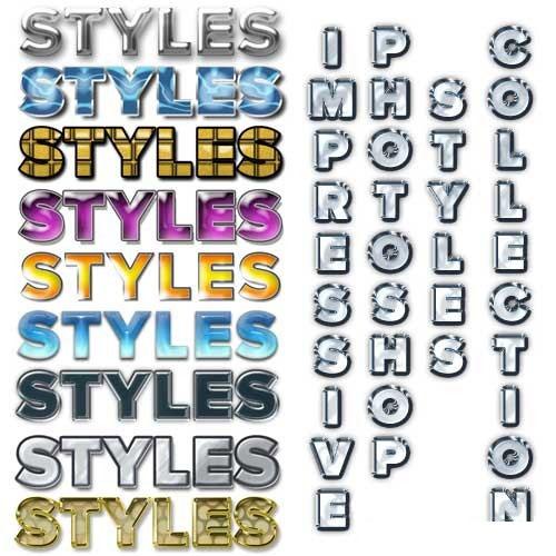 Styles set for Adobe Photoshop