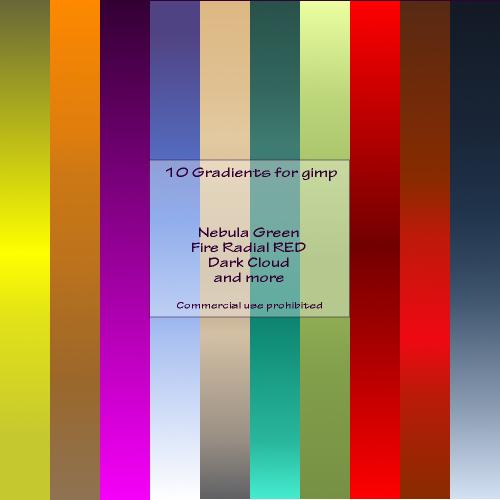 65 GIMP Gradients Pack