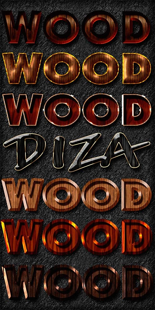 Wood styles by DiZa