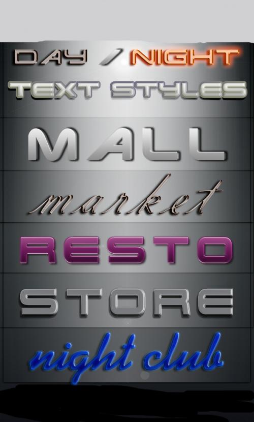 Signboard Photoshop Styles