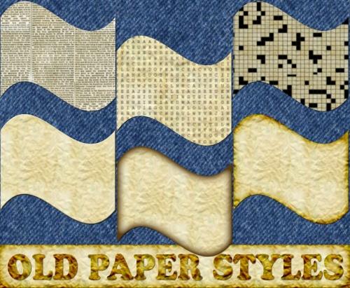 Old Paper Styles - старая бумага, стили для Photoshop