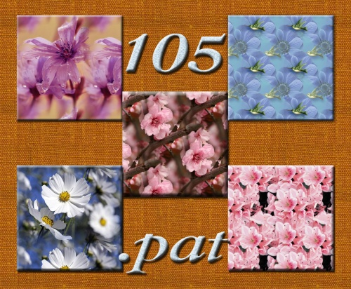 105 patterns flowers