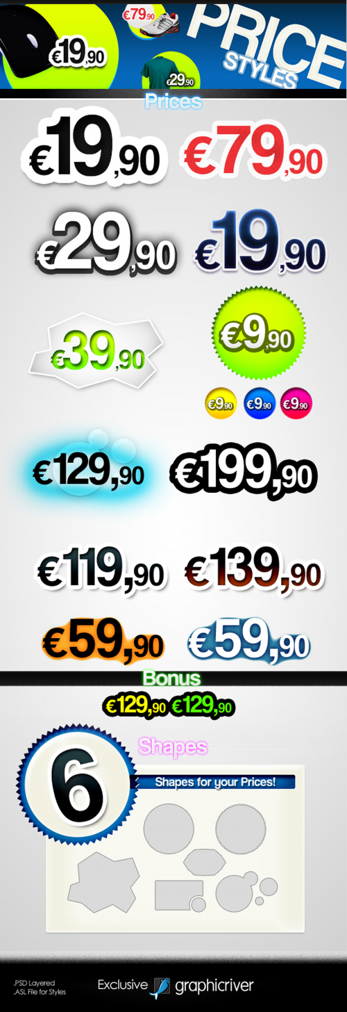 GraphicRiver - Prices - Text Styles