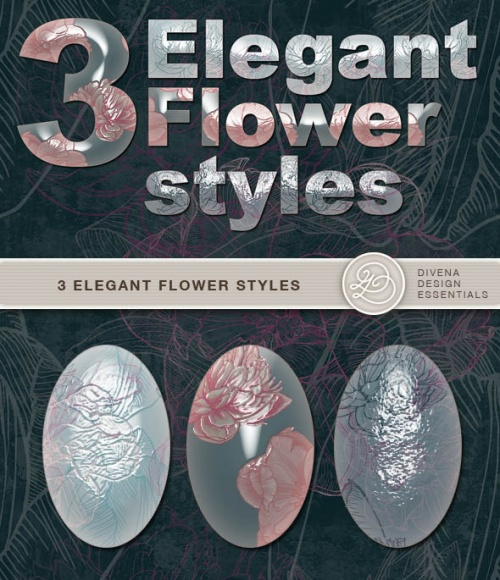 Elegant Flower Photoshop Styles for free