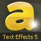 Glossy Text Effects & Styles for Photoshop