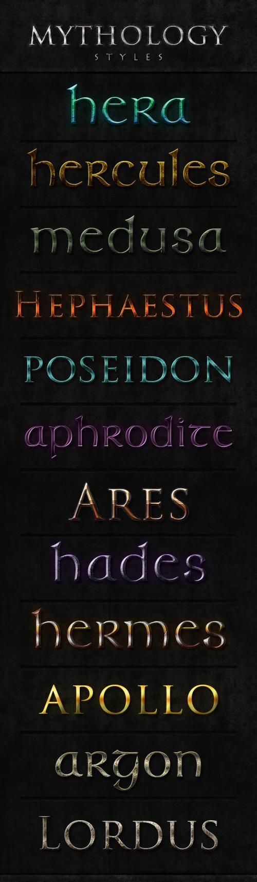Mythology Styles