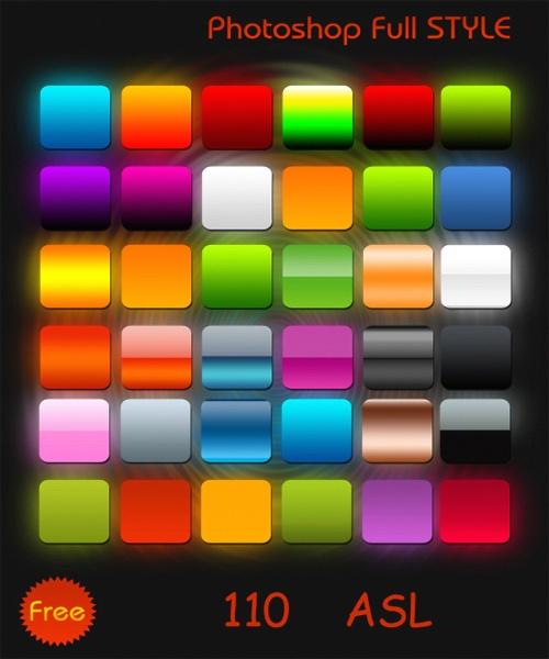 Цветные полные стили