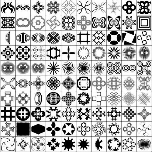 "Фигуры (Shapes) для фотошоп ""Shapes_Bits"""
