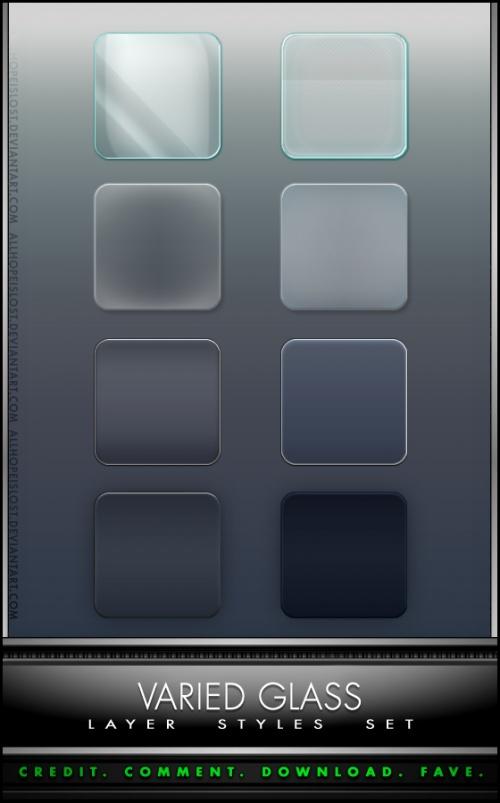 Varied Glass Styles - стили для Photoshop