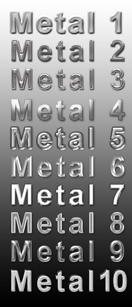 Metal and joyful unique text styles - GraphicRiver