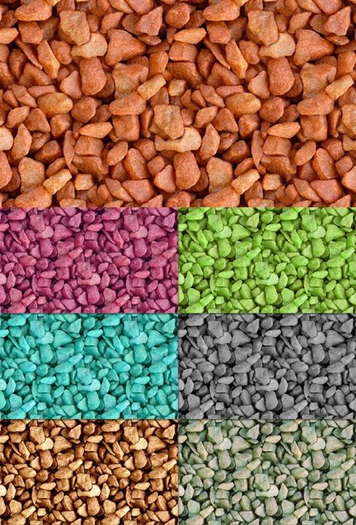 7 моделей цветных бесшовных текстур камня