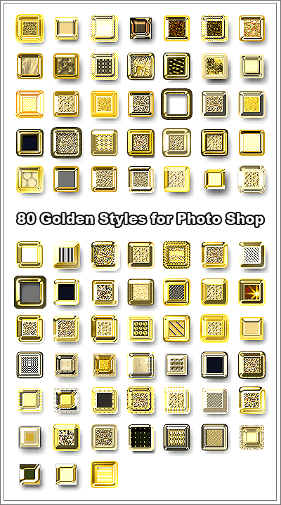 80 Golden Styles for PhotoShop