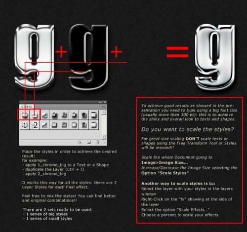 Металлические хромированные стили для Adobe Photoshop