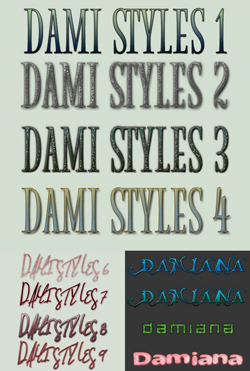 Colourful Damiana Styles Pack for Photoshop