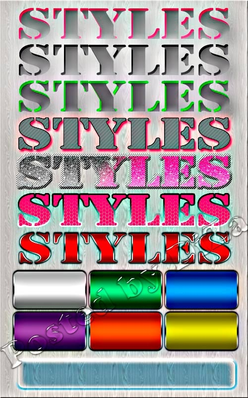 Collection of the styles Photoshop