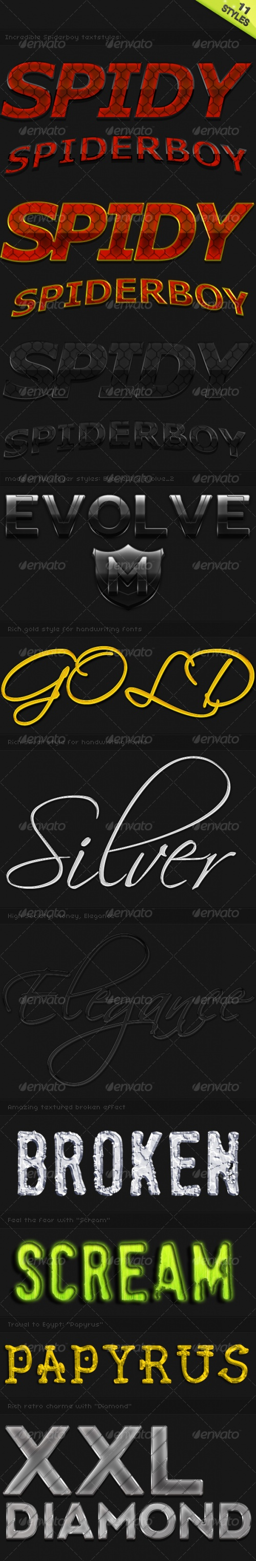 GraphicRiver - 11 Fancy Text Styles