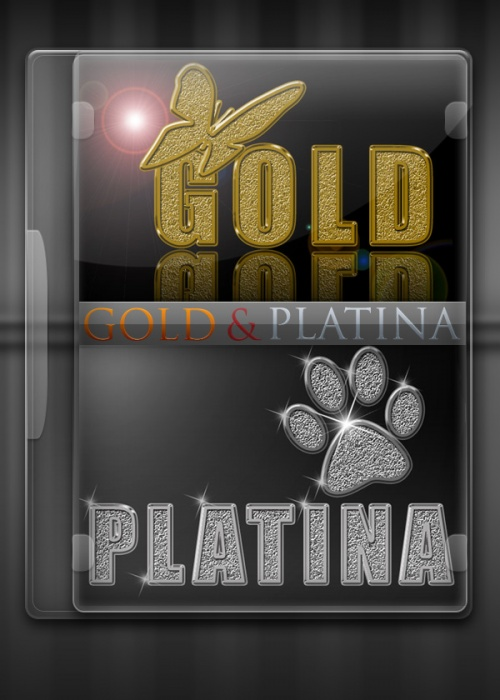 Стили для Photoshop - Gold & Platina
