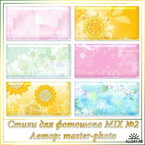 Стили для фотошопа – MIX №2