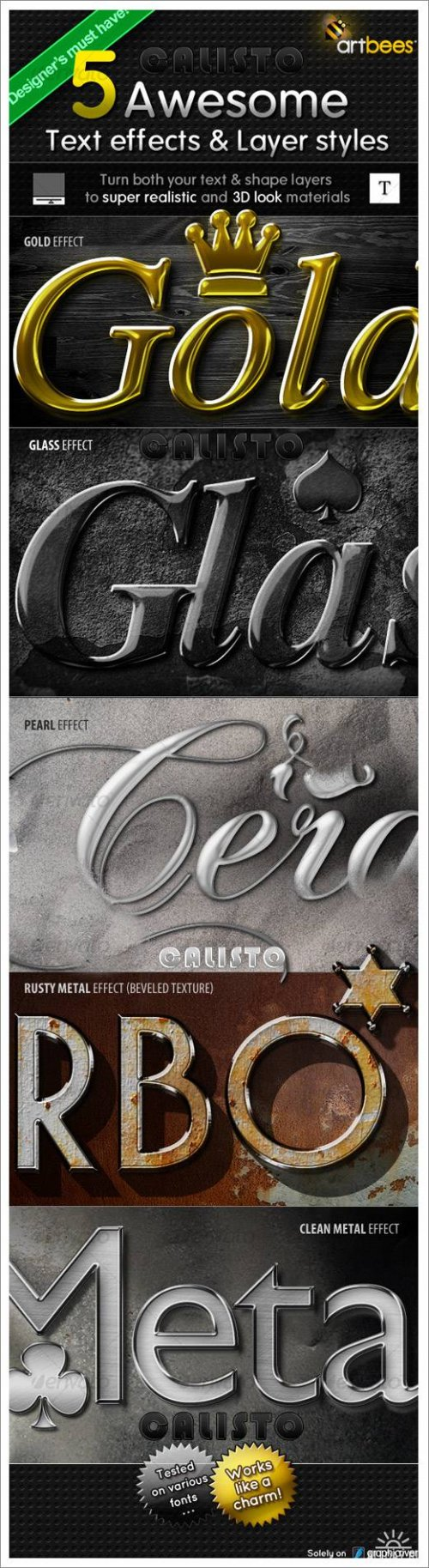 5 Awesome Text effects & Layer Styles - GraphicRiver
