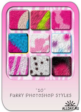 Furry styles - Пушистые стили для Photoshop
