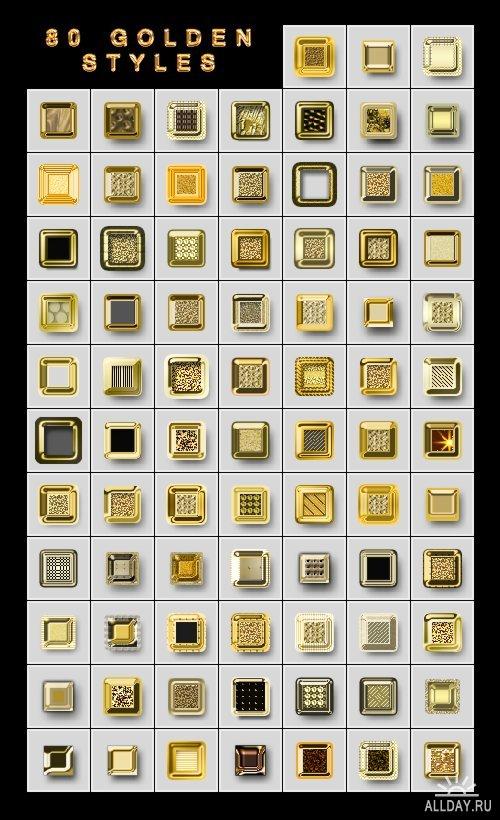 80 Золотых стилей для Photoshop